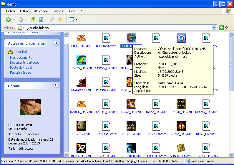 BlueSwirl :: Dreamcast VMU saves,games&icons, Dreamcast tools & apps