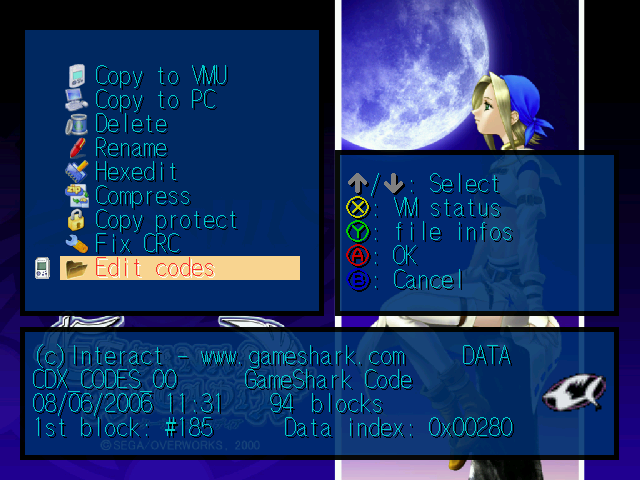 Blue Swirl :: Dreamcast tools, VMU saves, VMU minigames, VMU anims