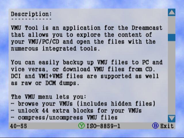 Blue Swirl :: Dreamcast tools, VMU saves, VMU minigames, VMU
